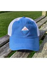 magnetic north MN trucker hat mallet blue