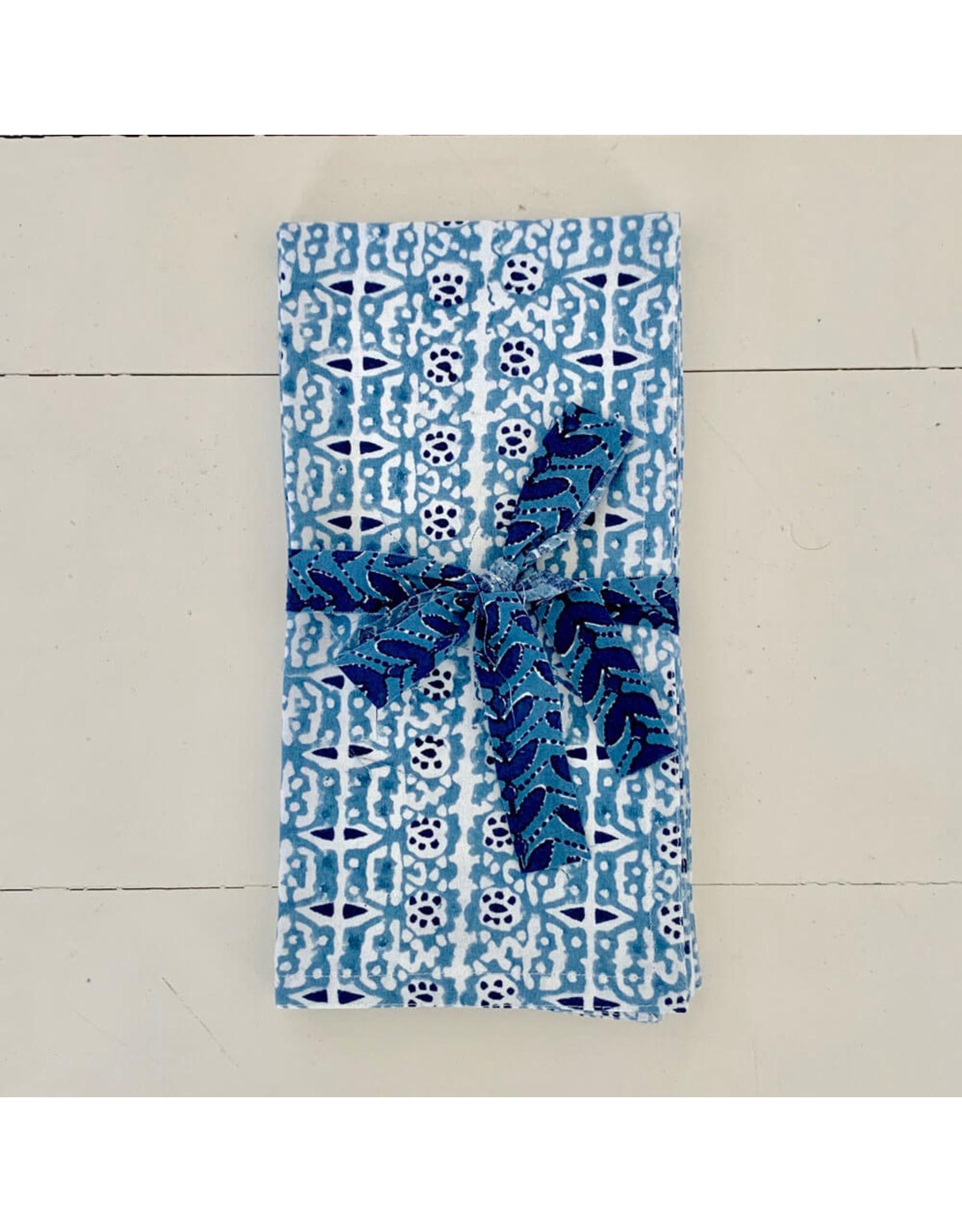 walter g capri riviera napkins light blue (set of 4)