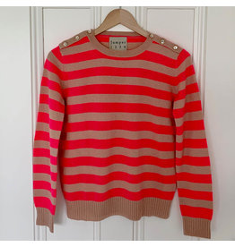 jumper 1234 button neck stripe sweater