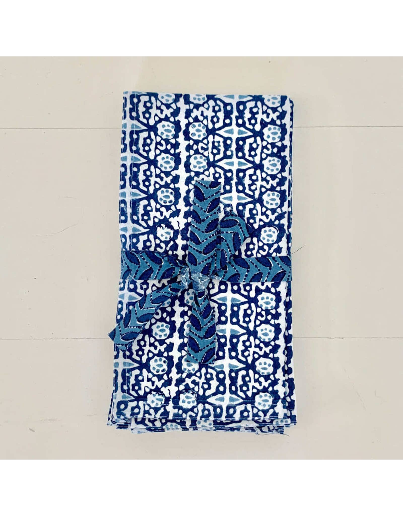 walter g capri riviera napkins dark blue (set of 4)