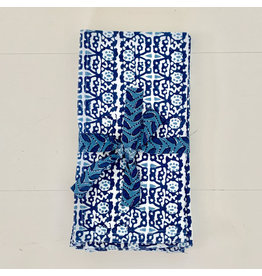 walter g capri riviera napkins dark blue (set of 4)