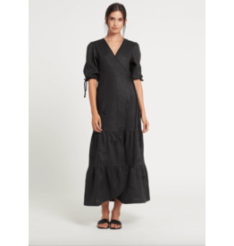 sir alena wrap midi dress
