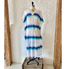 lemlem teref classic caftan turquoise o/s