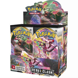 Pokémon Rebel Clash Booster Box Display