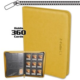 BCW Supplies Yellow 9 Pocket Z-Folio
