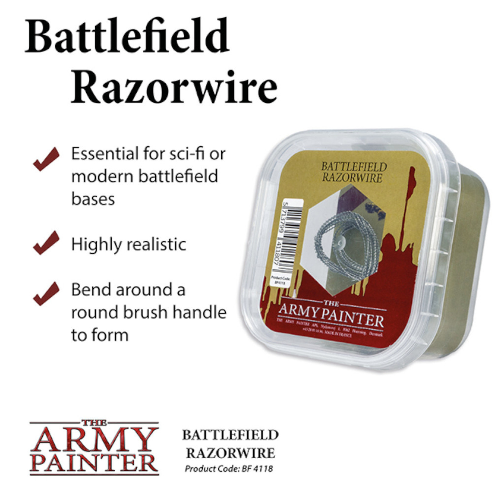 The Army Painter Basing: Battlefield Razorwire (2019)
