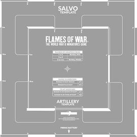 Flames of War Salvo Template (Etched)