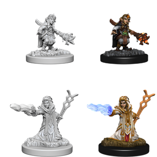 WizKids D&D Unpainted Minis: Female Gnome Wizard