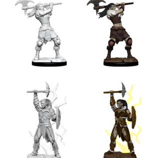 WizKids D&D Unpainted Minis: Female Goliath Barbarian