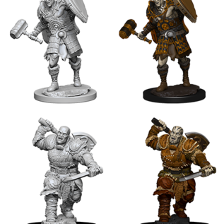 WizKids D&D Unpainted Minis: Male Goliath Fighter