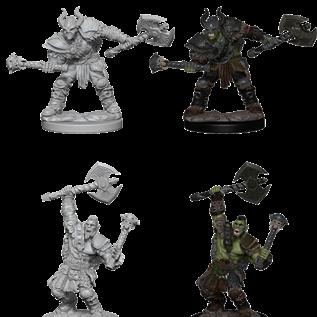 WizKids D&D Unpainted Minis: Male Half-Orc Barbarian