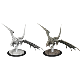 WizKids D&D Unpainted Minis: Young White Dragon