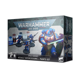 Games Workshop Warhammer 40k Space Marines + Paint Set