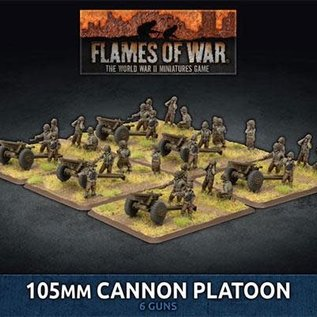 Flames of War 105mm Cannon Platoon