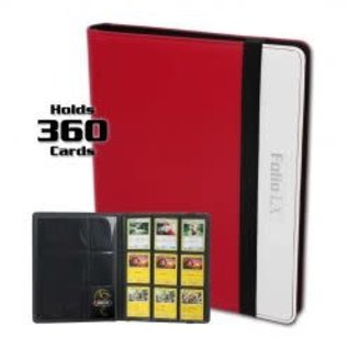 BCW Supplies 9-Pocket Pro-Folio LX Red-White
