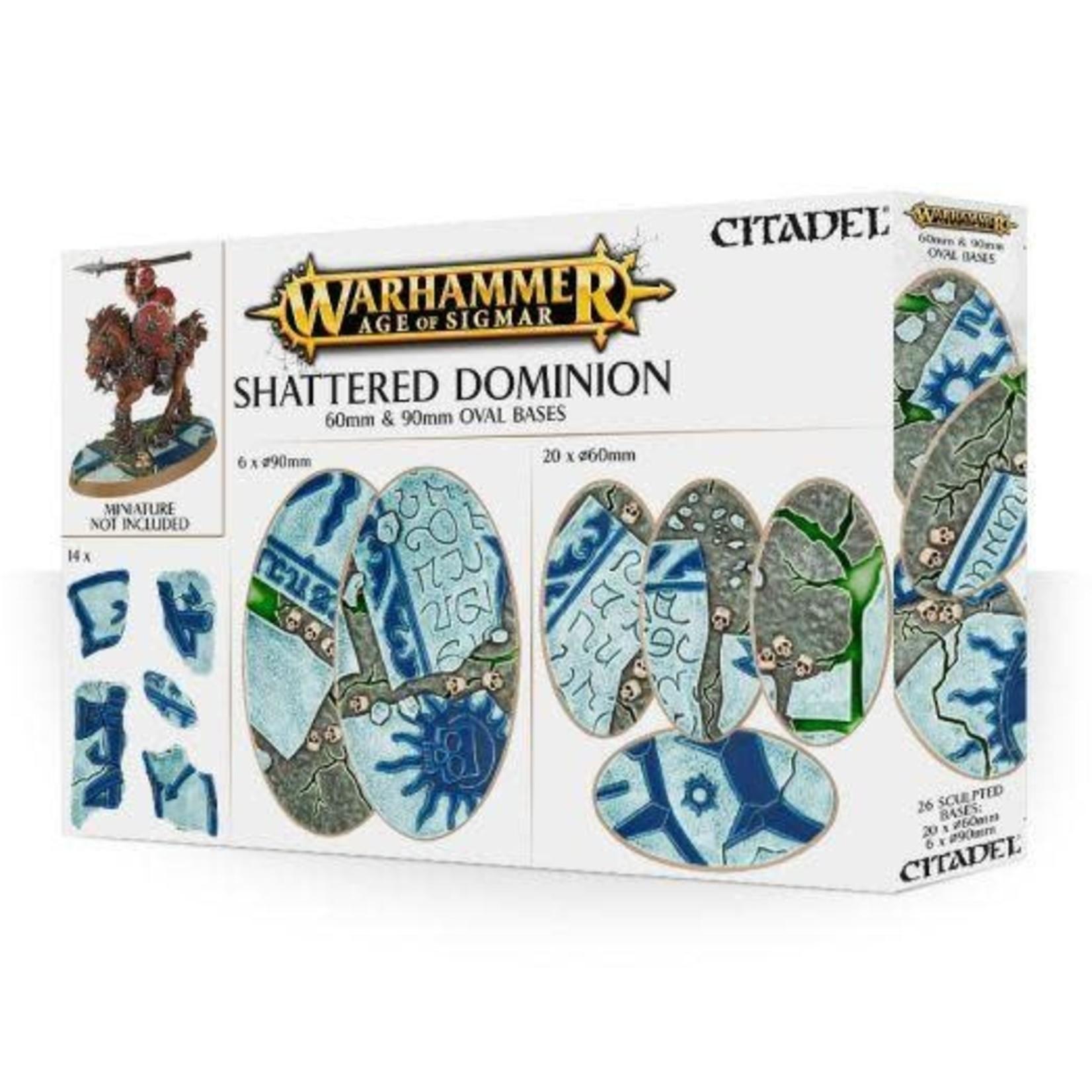 Games Workshop Shattered Dominion: 60 & 90mm Oval Bases