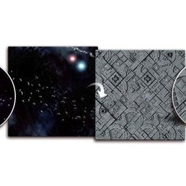 Battlefield In a Box Asteroid Field / Space Station 3'x3' Gaming Mat