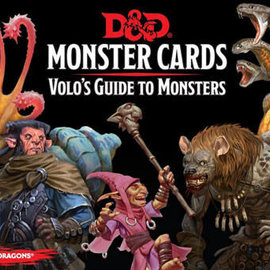 Wizards of the Coast D&D Spellbook Cards Monster Cards Volo's Guide to Monsters