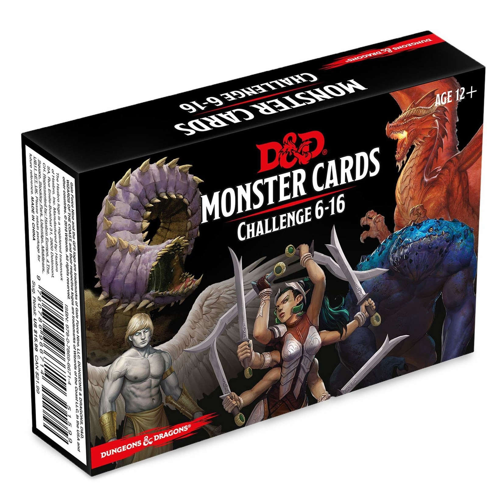 Wizards of the Coast D&D Spellbook Cards Monster Cards Challenge 6-16
