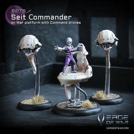 Verge of War Seit Commander on War Platform with Command Drones