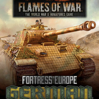 Flames of War Fortress Europe: German Unit Cards