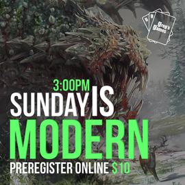 MTG Modern Constructed - Sunday May 16th @ 3:00 PM