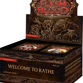 Flesh and Blood Welcome to Rathe Unlimited Booster Box Display