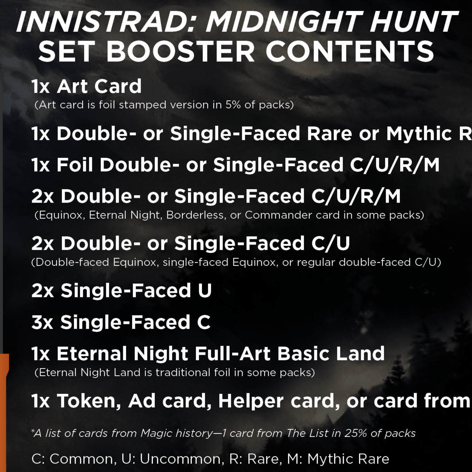 Wizards of the Coast Innistrad: Midnight Hunt Set Booster Box Display