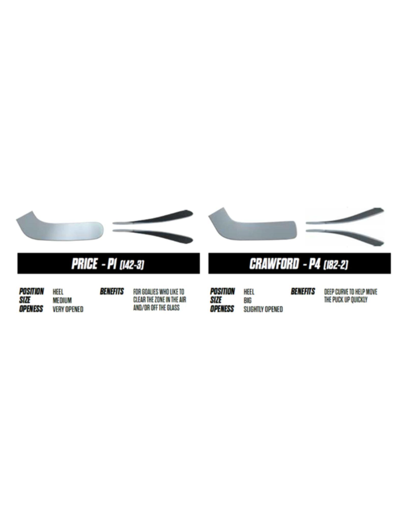 CCM Axis Pro Junior Goalie Stick - White/Black