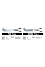 CCM Axis Pro Custom Goalie stick - white/navy