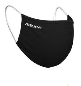 Bauer Reversible Fabric Facemask - BLACK