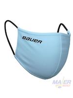 Bauer Reversible Fabric Face Mask - SKY BLUE/PLAID