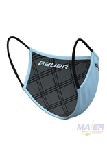 Bauer Reversible Fabric Face Mask - SKY BLUE/PLAID