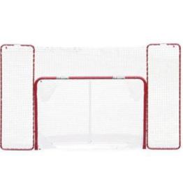 EZGoal Folding Hockey Net with Tutor & Backstop