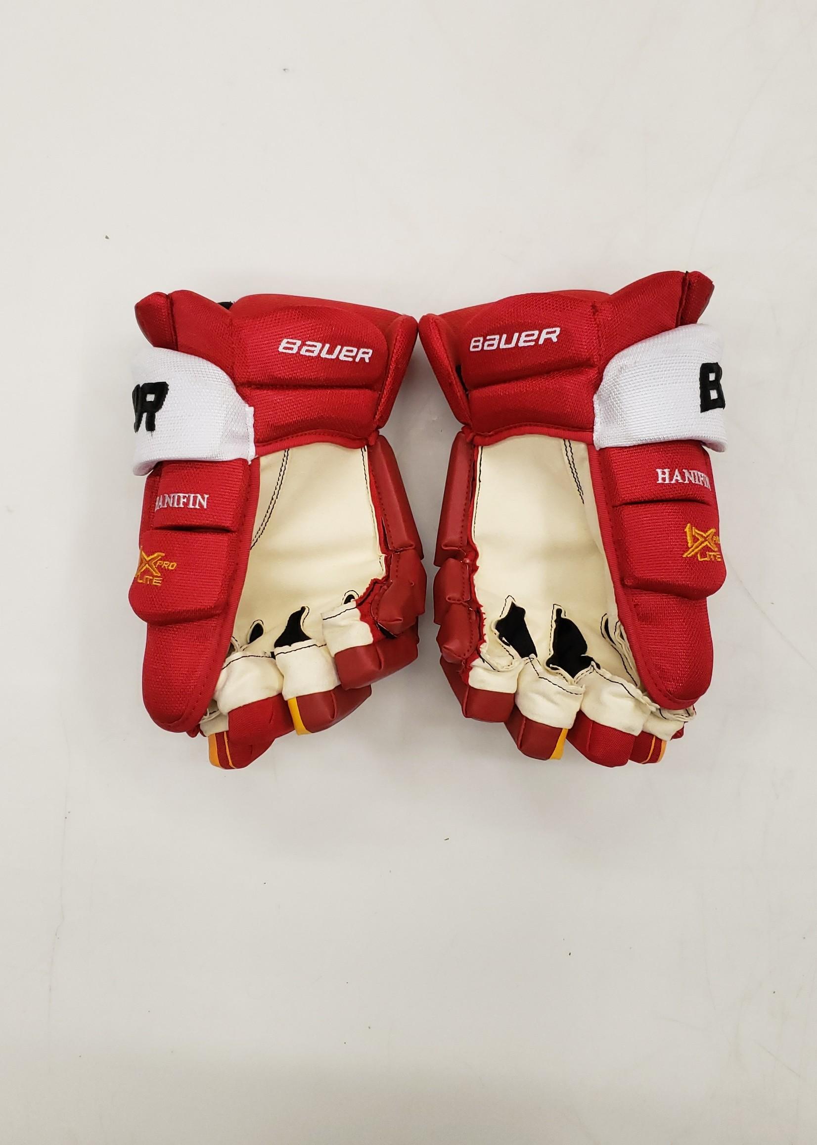 """Bauer Vapor 1X Lite Pro 15"""" Pro Stock Hockey Gloves - Calgary Flames Noah Hanifin"""