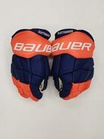 "Bauer Easton Stealth 14"" Pro Stock Hockey Gloves - New York Islanders Cal Clutterbuck"