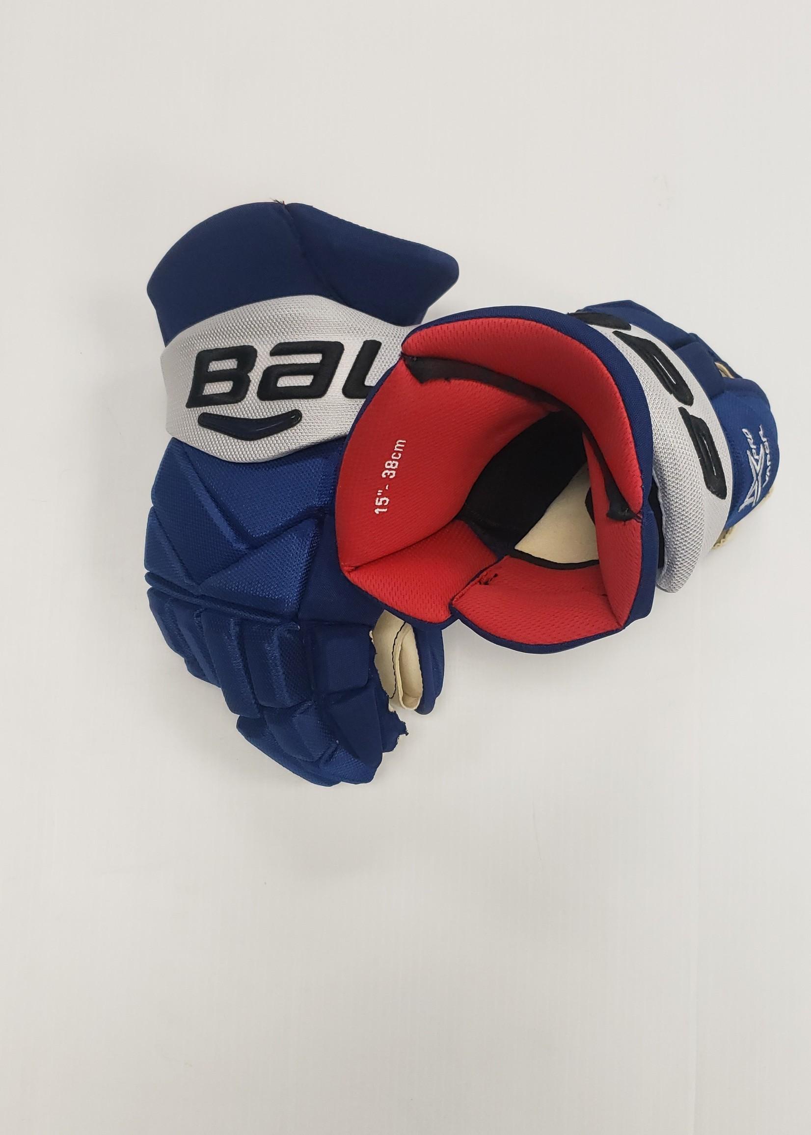 "Bauer Vapor 1X Pro 15"" Pro Stock Hockey Gloves - Brian Boyle Tampa Bay Lightning"