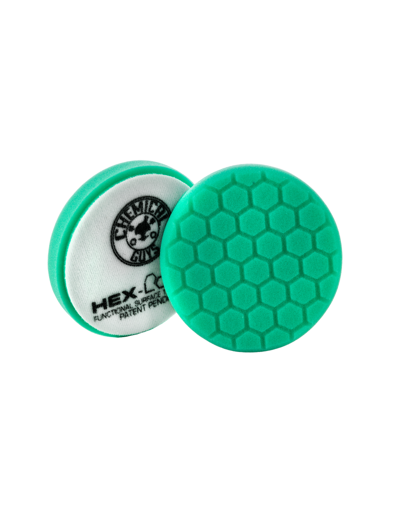 Hex-Logic 5.5 '' HEX-LOGIC Pad GREEN LIGHT CUT-HEAVY POLISH MINOR SCRATCH & SWIRL REMOVER Pad- 5.5''inch)