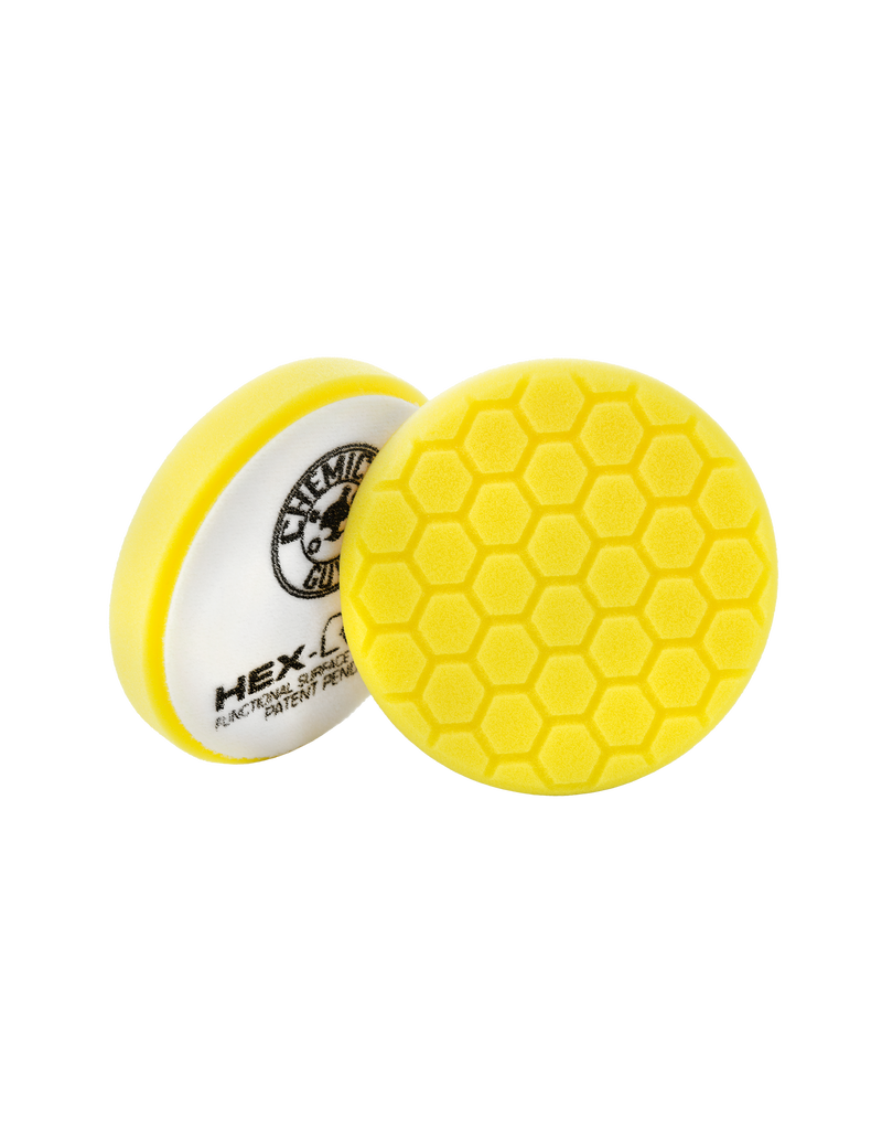 """Hex-Logic 5.5"""" HEX-LOGIC PAD - YELLOW  5.5 """"  Cutting/Compounding Pad- Chemical Guys premium Pads (5.5""""inch)"""