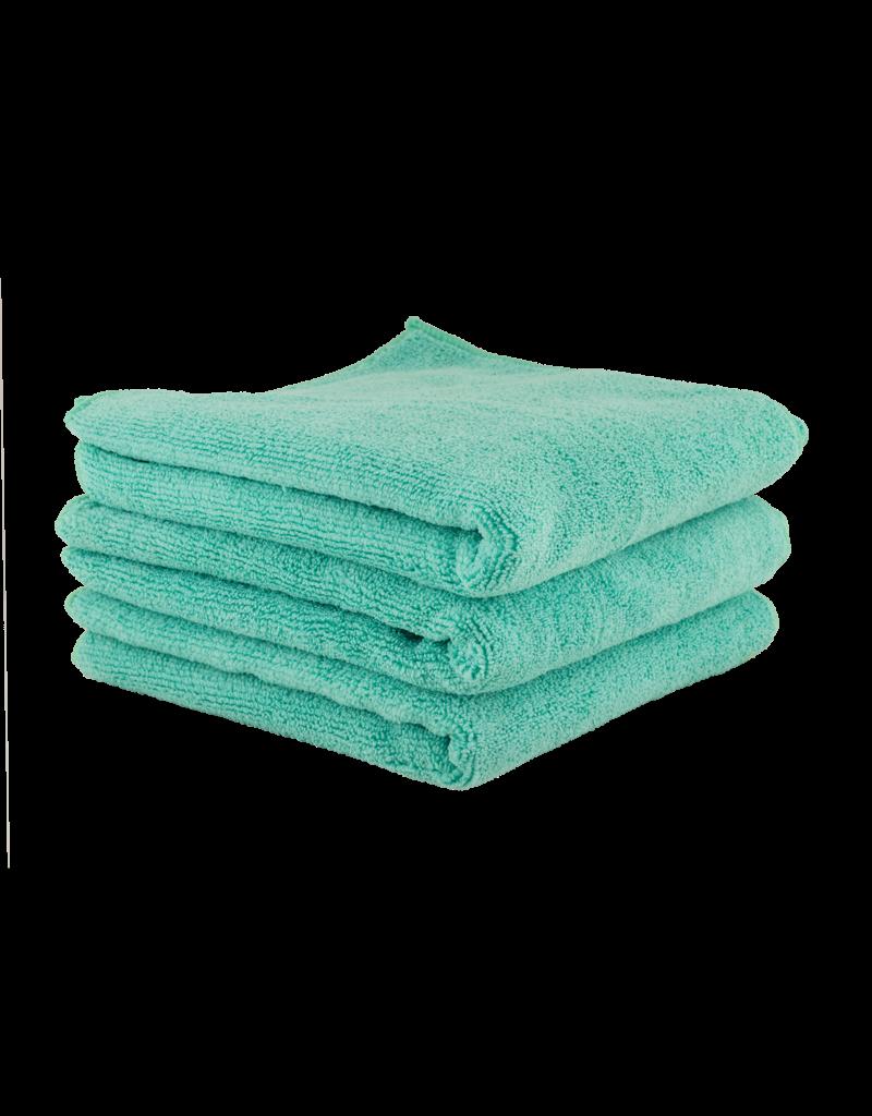 "Chemical Guys Workhorse Professional Microfiber Towel, Green 16"" x 16"" (3 Pack)"