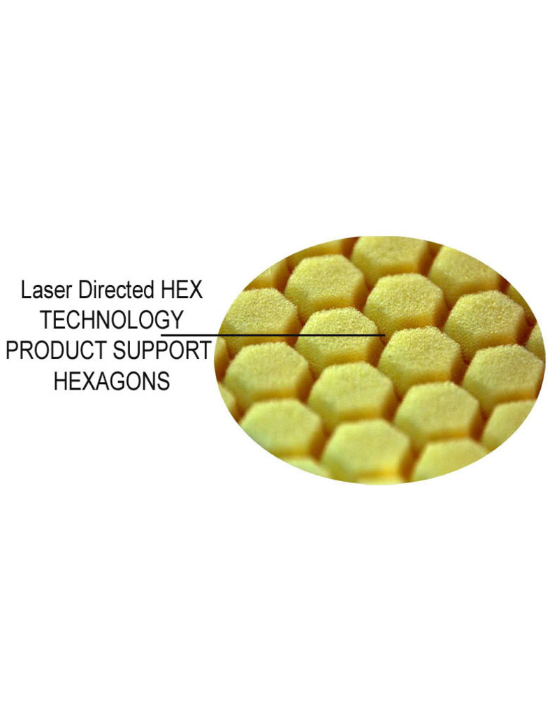 """Hex-Logic 7.5"""" """"SELF CENTER"""" HEX-LOGIC Pad -RED PERFECTION ULTRAFINE WAX & SEALANT FINISHING PAD (7.5""""inch)"""