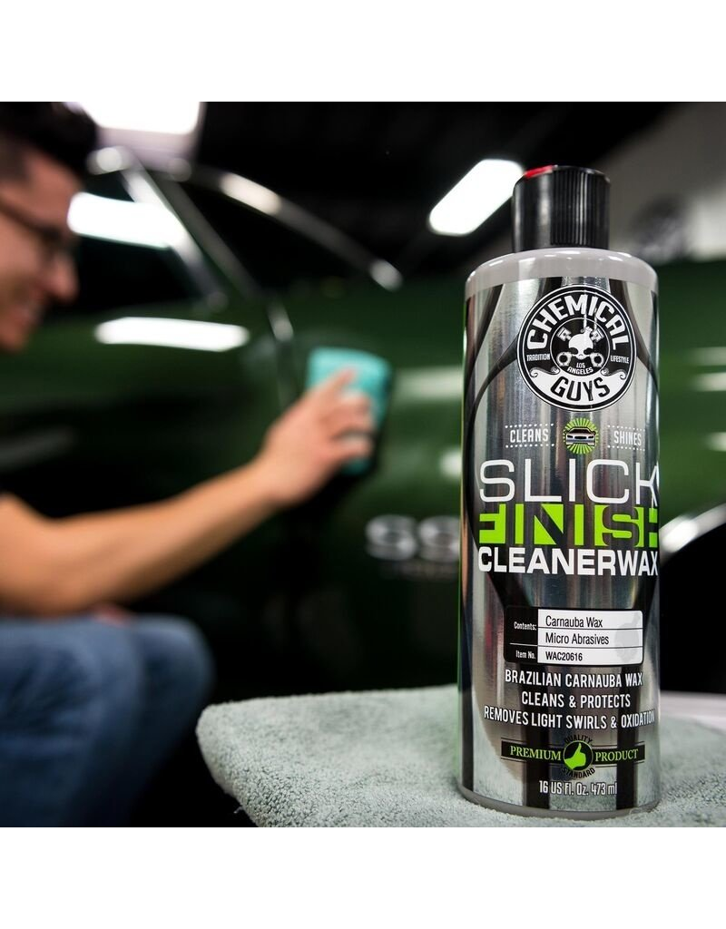 Chemical Guys Slick Finish Cleaner Wax With Microabrasives (16oz)