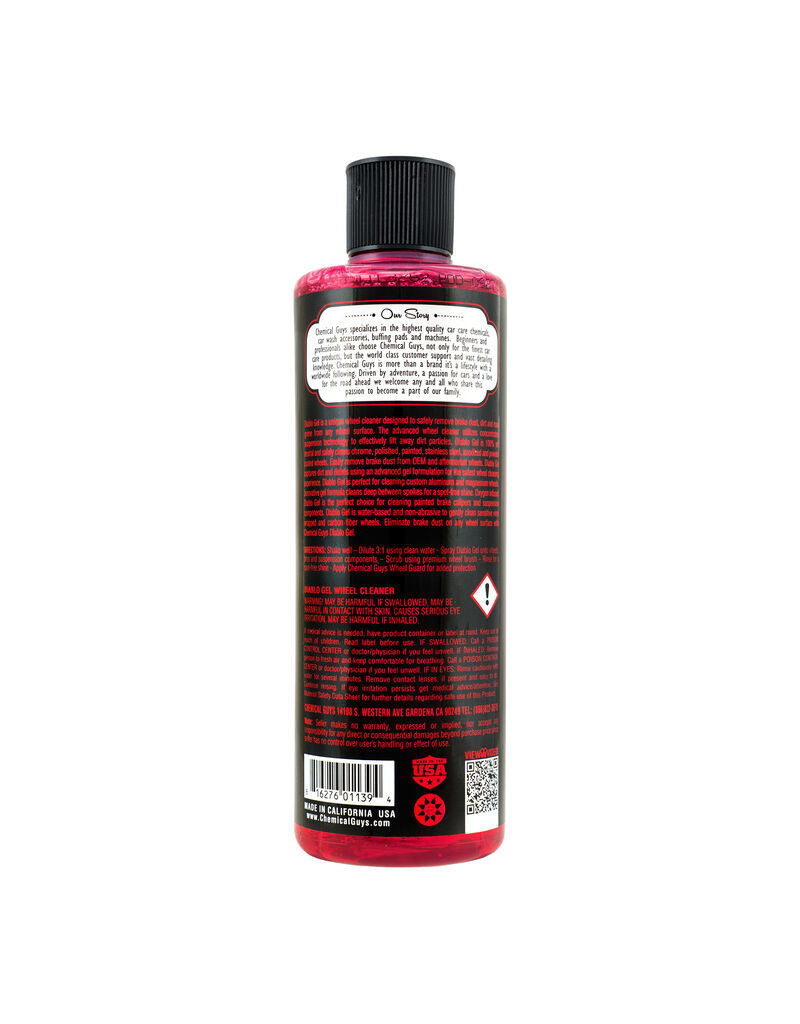 Chemical Guys DIABLO GEL OXYGEN INFUSED FOAM WHEEL AND RIM CLEANER (16 oz)