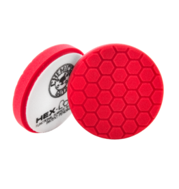 "Chemical Guys 6.5"" HEX-LOGIC Pad -RED PERFECTION ULTRAFINE WAX & SEALANT FINISHING PAD (6.5""inch)"