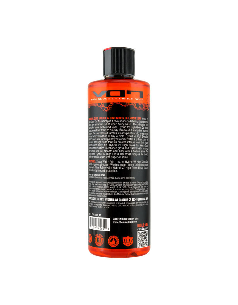 Chemical Guys Hybrid V07 Optical Select High Suds Car Wash Soap (16oz)