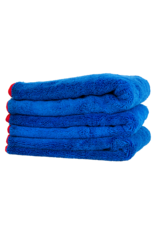 """Chemical Guys Fluffer Miracle Towel 24""""x16"""" Blue w/ Red Edges (3 Pack)"""