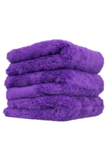 "Chemical Guys Happy Ending Ultra Plush Edgeless Microfiber Towel, Purple 16"" x 16"" (3 Pack)"
