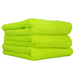 """Chemical Guys El Gordo Extra Thick Professional Microfiber Towel, Green 16.5"""" x 16.5"""" (3 Pack)"""