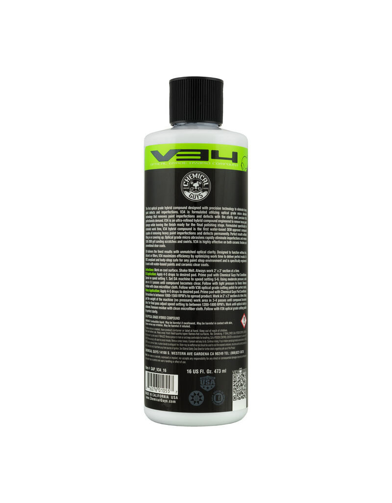 Chemical Guys V34 Optical Grade Hybrid Compound (16oz)