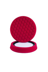 "Hex-Logic 7.5"" ""SELF CENTER"" HEX-LOGIC Pad -RED PERFECTION ULTRAFINE WAX & SEALANT FINISHING PAD (7.5""inch)"